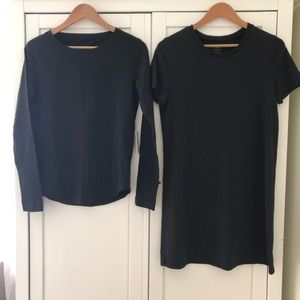 Grana Black Long Sleeve Tee & Tee-Dress, Small